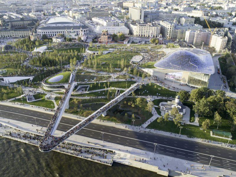 AGC firma il vetro del nuovo Zaryadye Park di Mosca