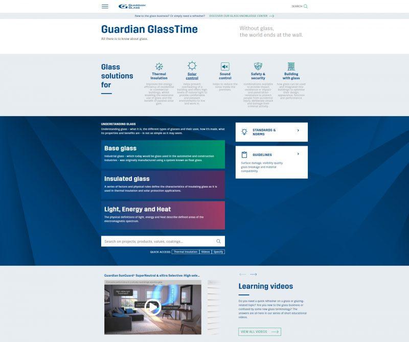 Guardian Glass lancia la versione digitale di GlassTime