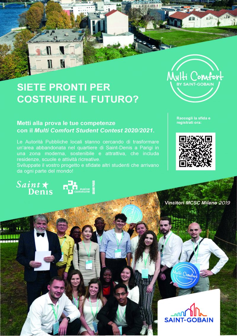 Saint-Gobain: al via il 'Multi Comfort Student Contest 2021'